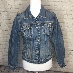 GAP 1969 Factory Destroyed Denim Jacket
